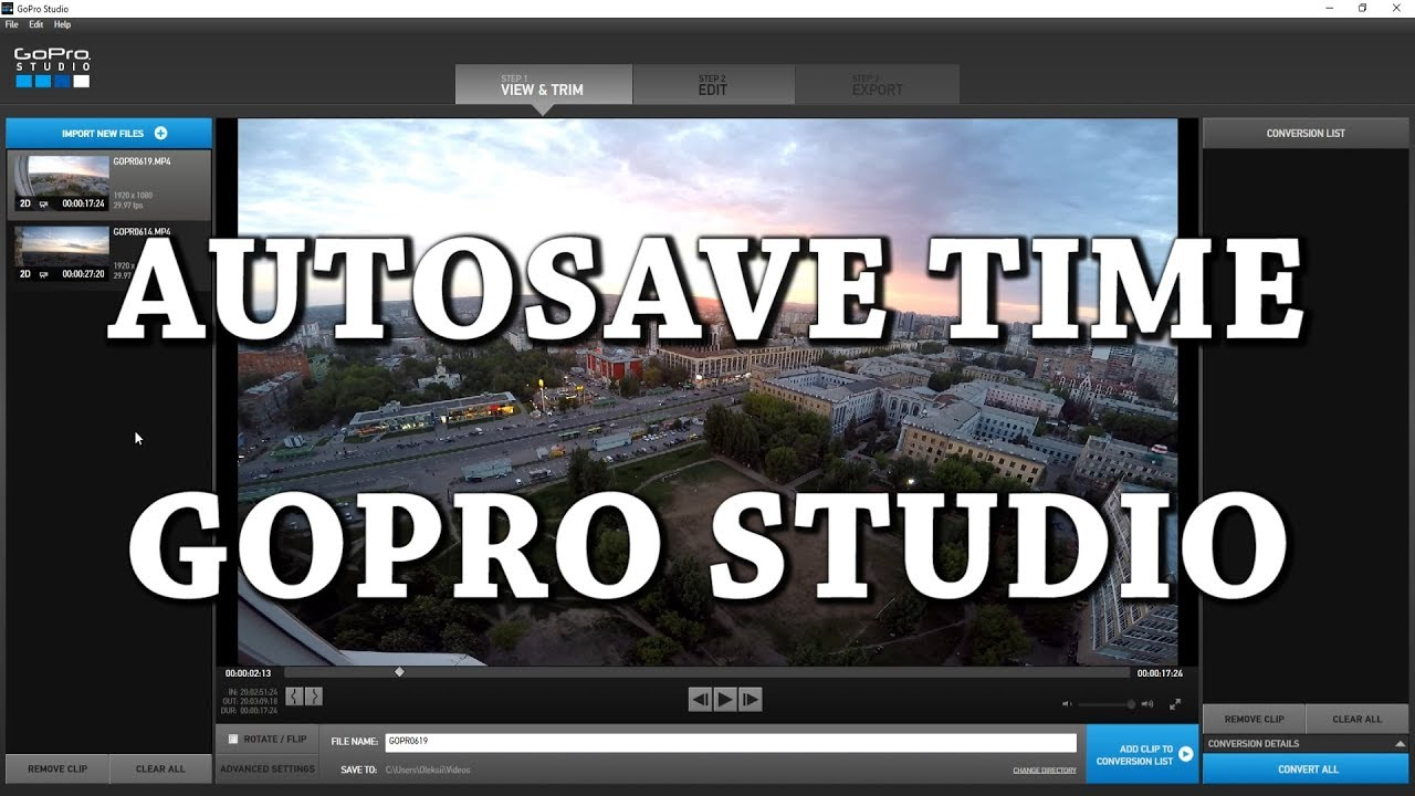 How to Change Autosave Time in GoPro Studio - YouTube
