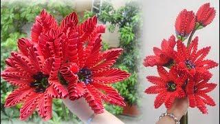 3D Origami FLower V12 Tutorial | como hacer una flor de origami 3d