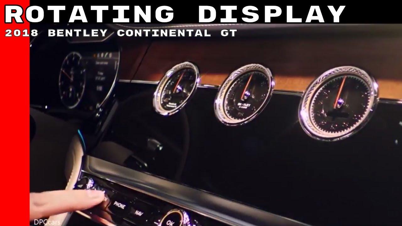 2017 Bentley Flying Spur >> 2018 Bentley Continental GT Rotating Display - YouTube