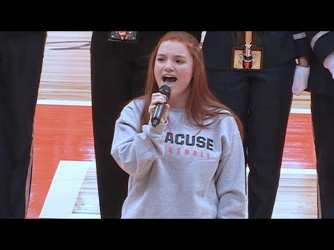 West Genesee High School senior slays National Anthem at Carrier Dome
