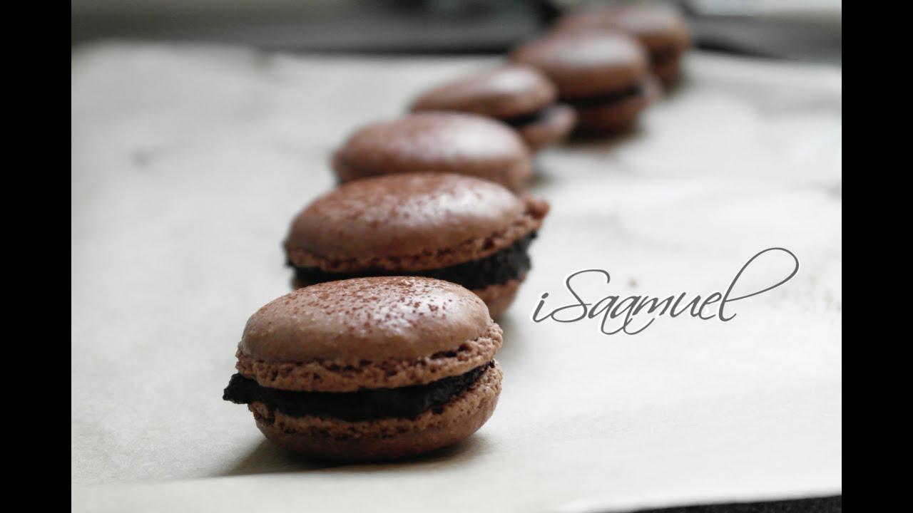 French Chocolate Macarons | Recipe - YouTube