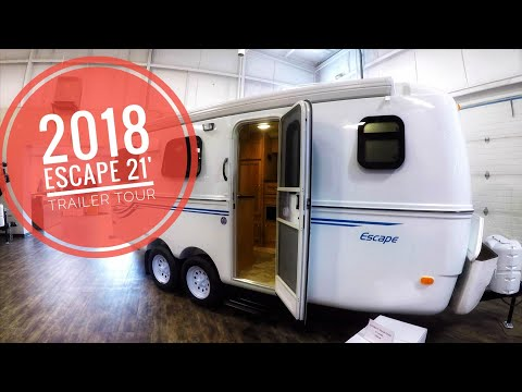 2018 Escape 21' Molded Fiberglass Trailer Tour (147) - YouTube
