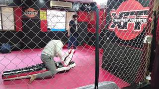 training with the same dummy that salman bhai used to train for sultan at xff