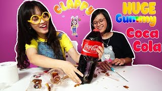 DIY How to Make a HUGE Gummy Coca Cola Bottle with Clappy