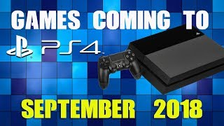 All Ps4 Games Coming Late September 2018