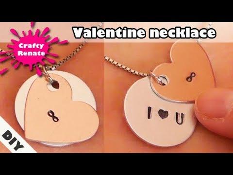 DIY gifts - Valentine necklace 💝