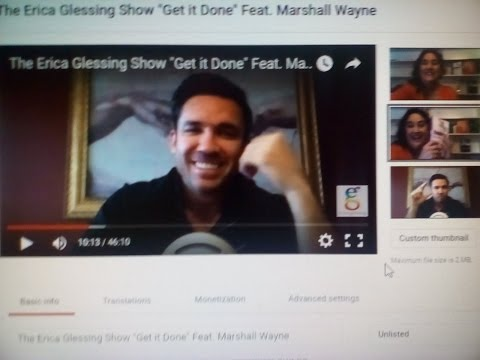 "The Erica Glessing Show ""Get it Done"" Feat. Photographer Marshall Wayne"