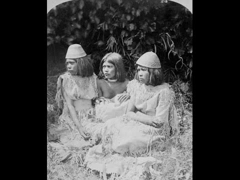 3D Stereoscopic Photographs of Paiute Indians in Las Vegas, Nevada (1870's)