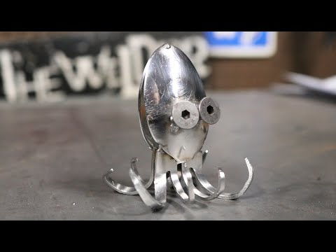 How To Weld an Octopus Metal Art Welding Projects MIG Weld Scrap Barbie The Welder
