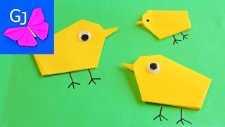 Оригами ЦЫПЛЕНОК из бумаги
