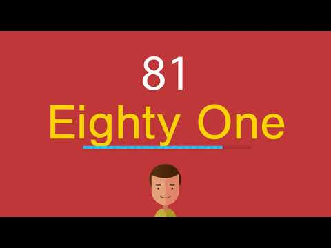 Как по английски будет 81