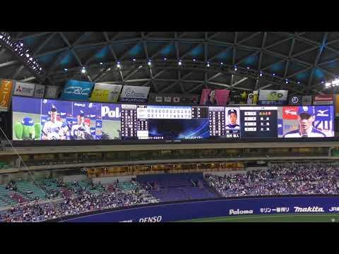 18/05/31 吉見選手、松井雅人選手のヒーイン(ドアラ(エコドアラ)とともに…)