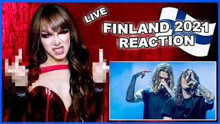 Finland | Eurovision 2021 Reaction | Blind Channel - Dark Side - LIVE