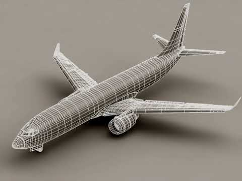 3D Model of Boeing 737-800 Continental Airlines Review