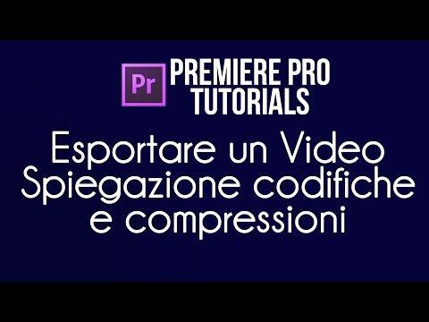 Esportare un video con Premiere Pro - Spiegazione Codifiche