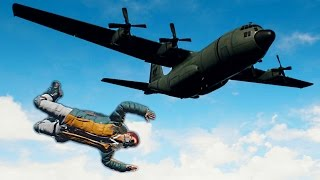 MOST DANGEROUS PARACHUTE JUMPS! (PU Battlegrounds)