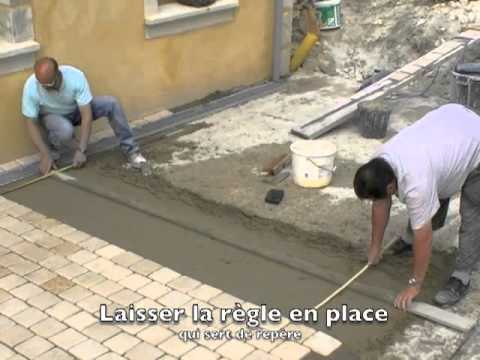 Poser un carrelage youtube - Plaque beton sol exterieur ...