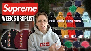 This Supreme x Lacoste Collaboration is AMAZING! Week 5 Droplist Review!