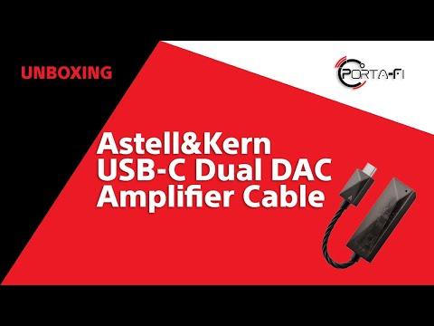 Astell&Kern USB-C Dual DAC Amplifier Cable Unboxing | Porta-Fi™