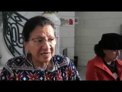 Entrevista a la Presidenta de CDHCM al finalizar la Firma de Convenio con el Congreso CDMX