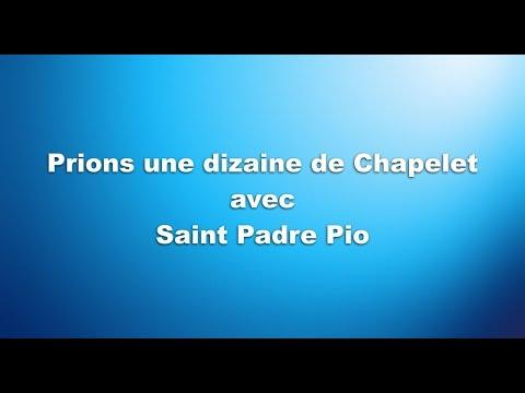 Prions une dizaine de Chapelet avec Saint Padre Pio