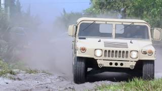 1987 AM General Humvee 6.5L Playing in the Sand.