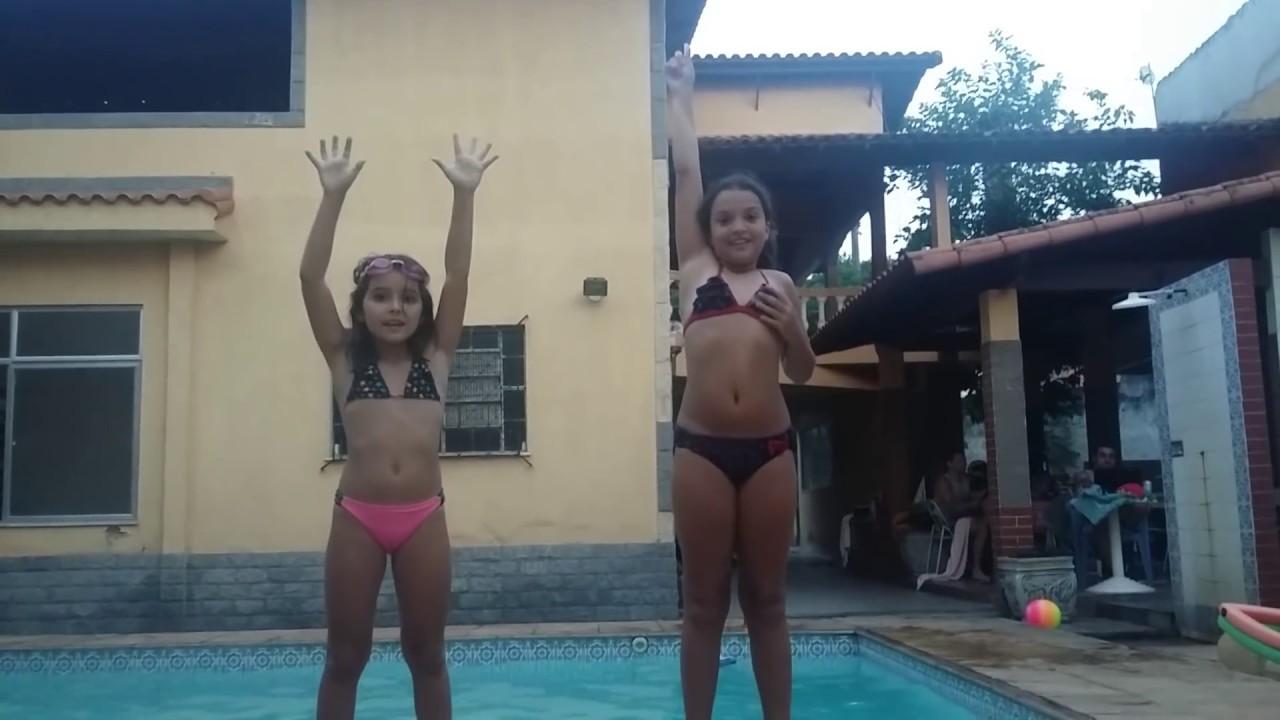 Desafio da piscina com a minha prima!