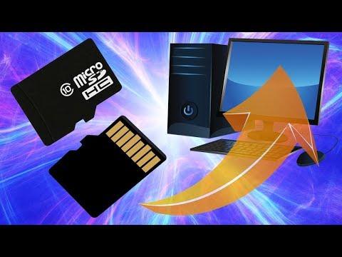 Как подключить MicroSD флешку на компьютер