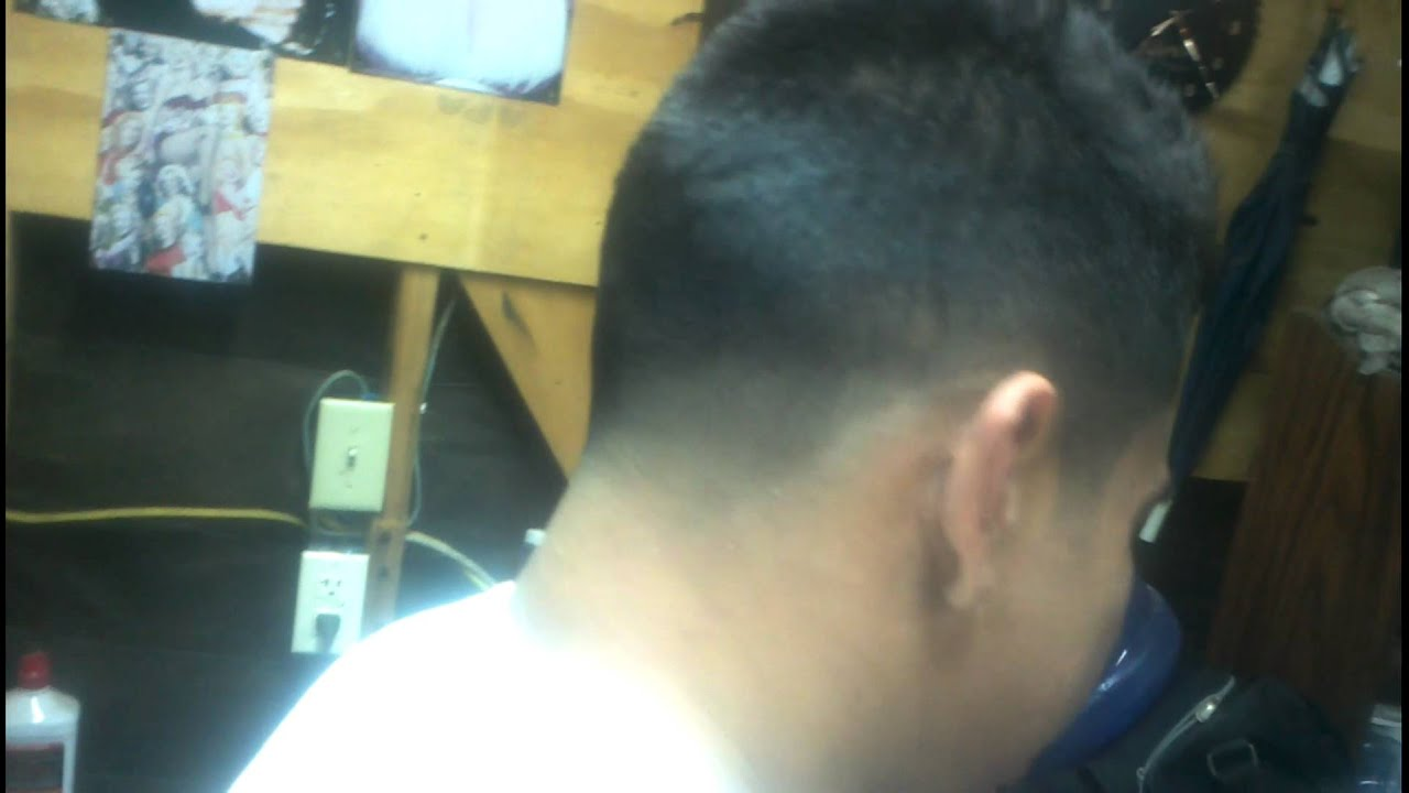 Fohawk Style Low Tapered Fade Youtube