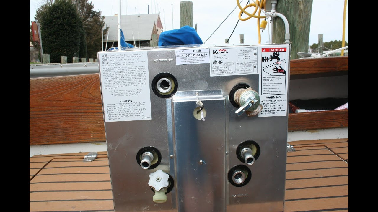 boat water heater diagram hot water heater by kuuma camco youtube boat water system diagram