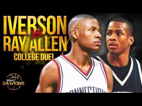 Ray Allen Vs Allen Iverson EPiC College Duel   Big EAST 1996 Final Game   SQUADawkins