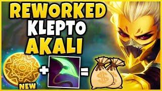 *NEW* MONEY MAKING AKALI BUILD (MAX BUILD IN 23 MINUTES) KLEPTO REWORK AKALI - League of Legends