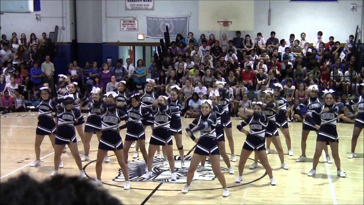 New hyde park varsity cheerleaders fall 2013 pep rally youtube