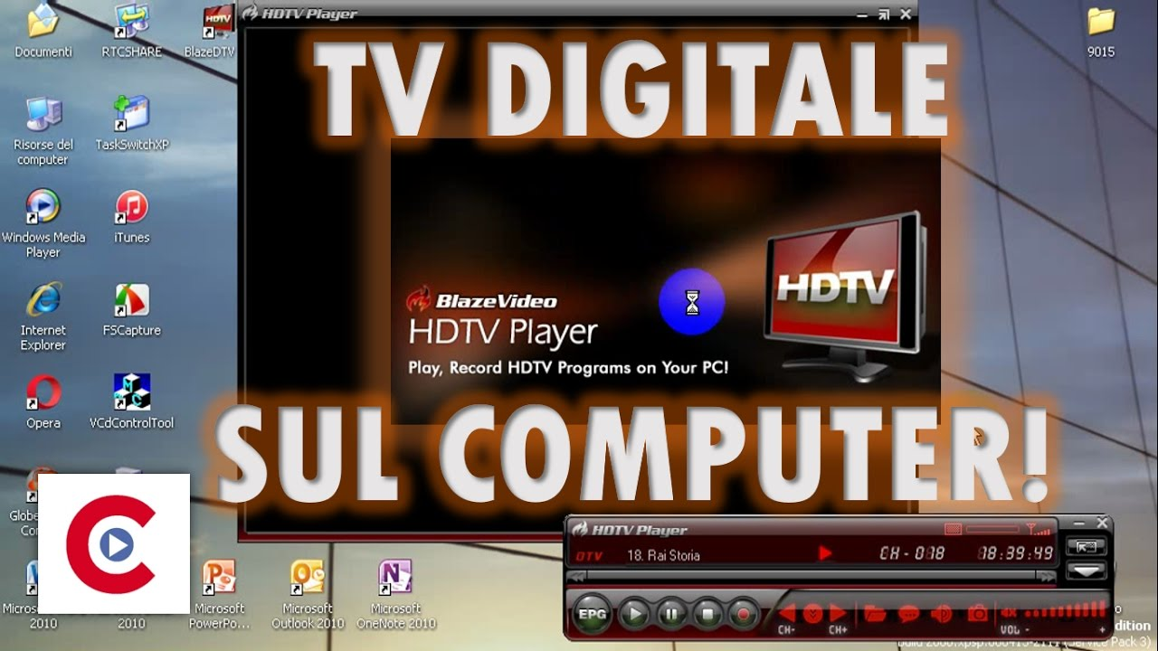 Tv Digitale Tv Digitale Sul Computer Utilizzando Un Ricevitore Blaze Hdtv Player