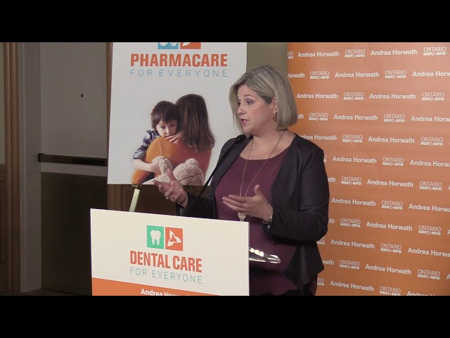 Ontario NDP pledge dental and pharmacare for all if elected