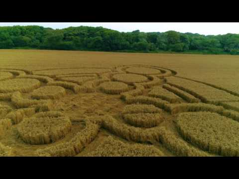 Climping, West Sussex CROP CIRCLE 20.7.2017 4k60p