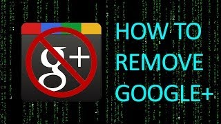 How To Remove Google+ From YouTube Forever