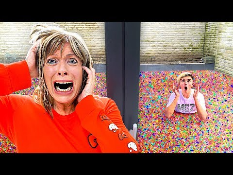 I Put 100 Million Orbeez In My Mom's Backyard - Prank
