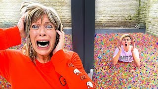 Put 100 Million Orbeez  N My Moms Backyard   Prank