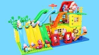 Peppa Pig Blocks Mega House Toys For Kids - Lego Duplo House Creations Toys Construction Sets