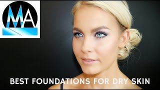 BEST FOUNDATIONS for Dry Skin Brides Step by Step Tutorial Pt 5 #MondayMakeupChat - mathias4makeup