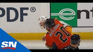 Nicolas Deslauriers, Austin Watson Throw Haymakers Right After Opening Faceoff