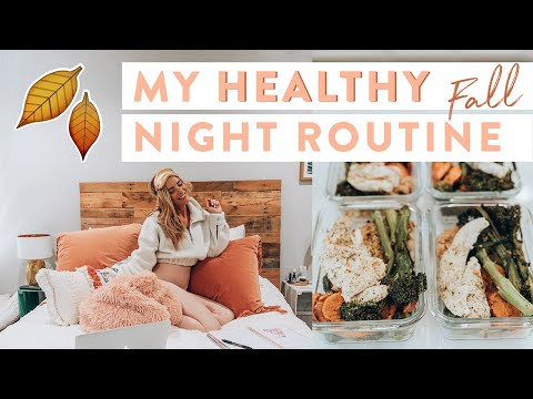 My Real HEALTHY Fall Night Routine 2019 | Easy Meal Prep Hacks! thumbnail