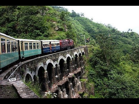 KALKA SHIMLA TOY TRAIN ROUTE CONSISTING OF 103 TUNNEL COVERING WITH COMPLETE SNOW
