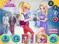 Princess online games: Elsa and Rapunzel - college girls - girls games