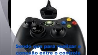 Como Conectar o controle do xbox 360 no PC (Kit play and charge)