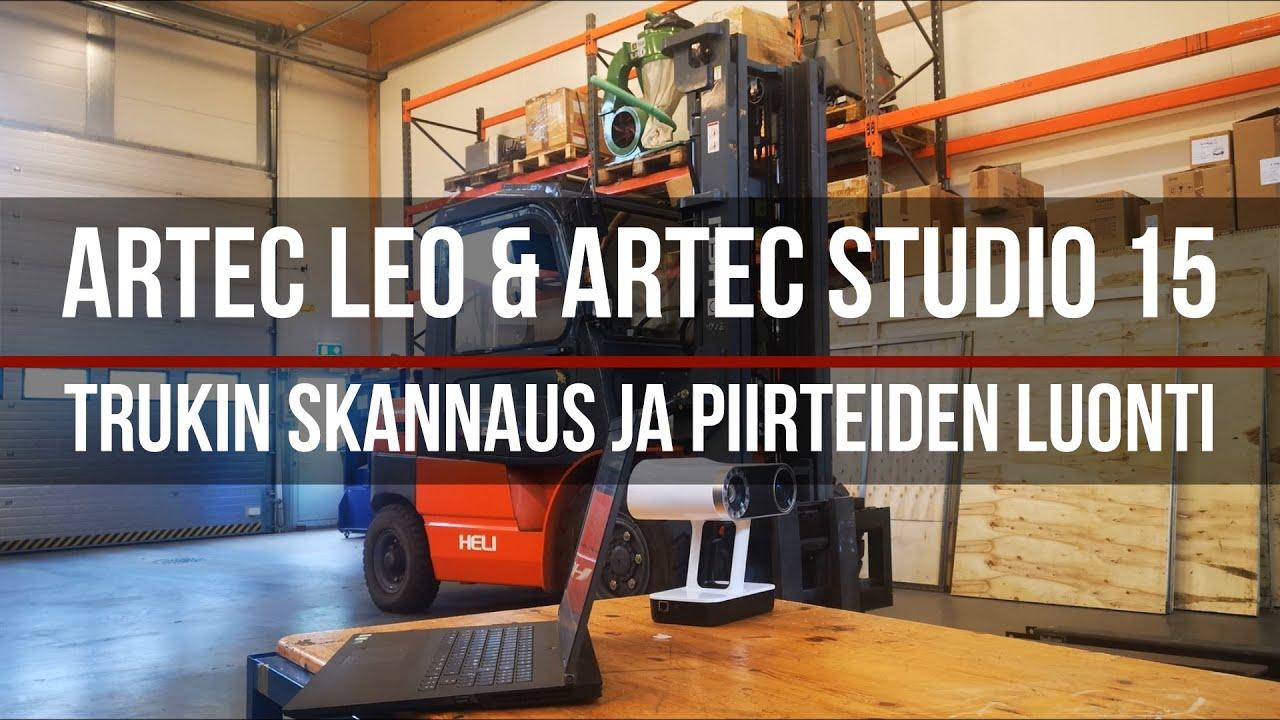 Artec Leo & Artec Studio 15, trukin skannaus ja piirteiden luonti