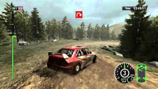 WRC 2010 (PC): Mitsubishi Lancer Evolution IX on Saxon Championship, UK - Stage 1 [HD]