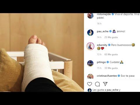 Risto Mejide sufre un percance jugando al pádel