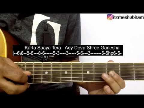 Deva Shree Ganesha Guitar Tabs Tutorial   Agneepath   Shubham Joshi